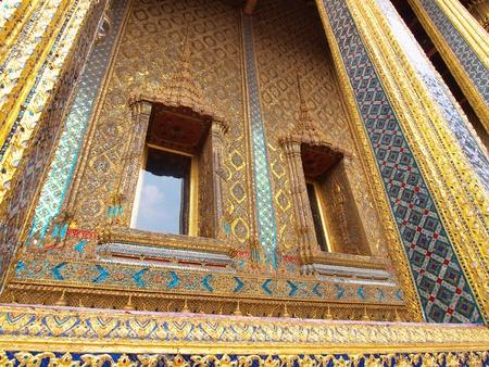 pra: Palace Door Wat Pra Kaeo, Thailand Stock Photo