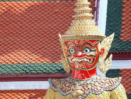 krung: Thai Demon in Grand Palace , Bangkok Thailand