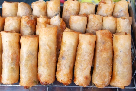 Thai food , Thai springrolls    photo