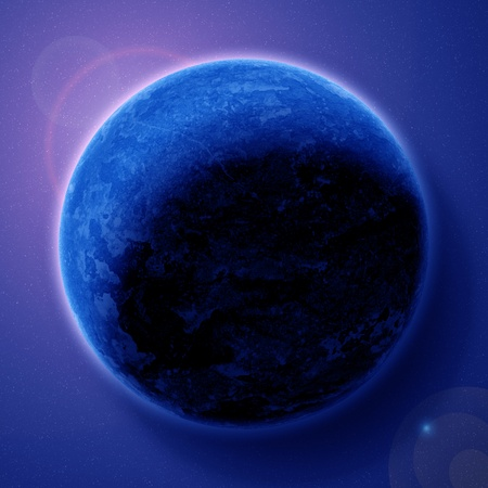 planet in beautiful space photo