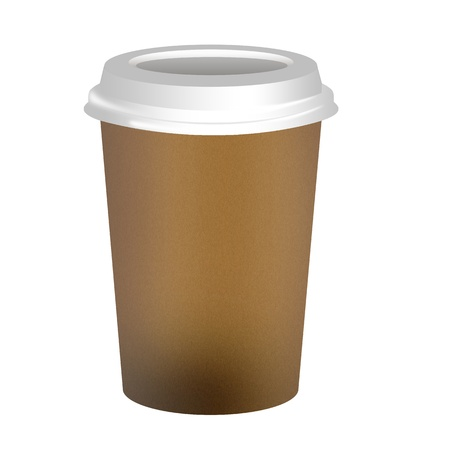 Takeaway coffee cup over white background photo