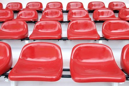Red seat at Thep Hasadin Stadium in Thailand
