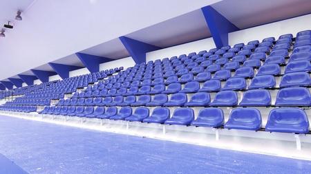 Blue seat at Thep Hasadin Stadium in Thailand photo