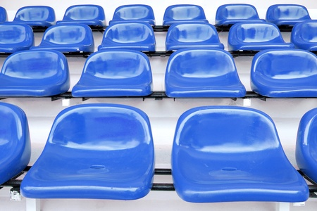 Blue seat at Thep Hasadin Stadium in Thailand photo