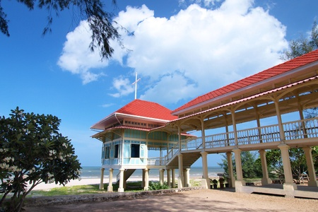 Palace Mrigadayavan (Marukhathaiyawan) in Cha-am, Thailand Redactioneel