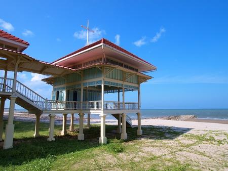 stilts: Palace Mrigadayavan (Marukhathaiyawan) in Cha-Am, Thailand