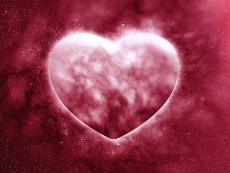Concept planet of the heart Stock Photo