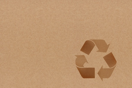 Recycle Symbol On recycle paper photo