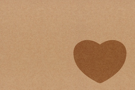 Heart Symbol On recycle paper photo