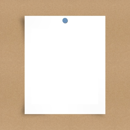 Blank note paper on board background Stock Photo