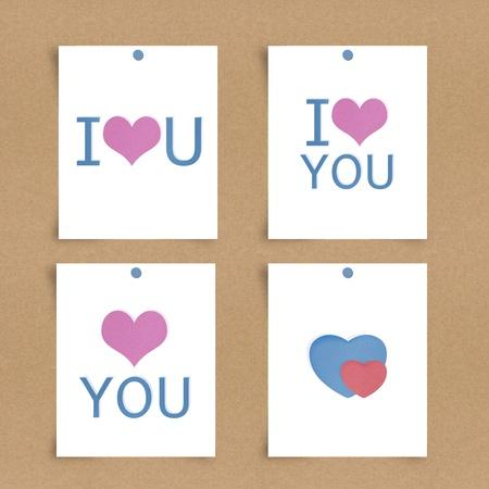 i love u: J'aime le papier Remarque u