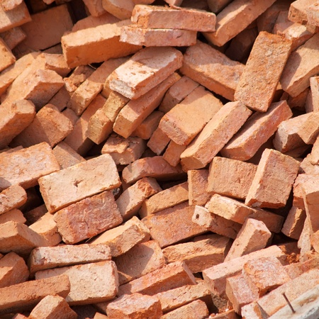 group of bricks square construction materials     photo