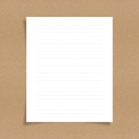note paper with dash line on board background photo