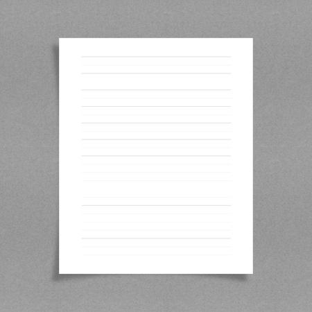 tenga en cuenta el papel con la línea de fondo de junta Foto de archivo