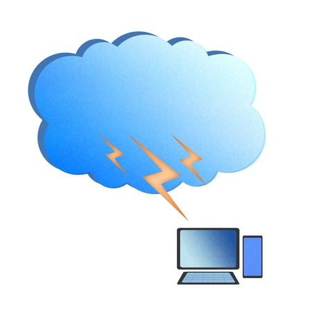 Recycle paper, Cloud computing concept. Stock Photo - 12961282