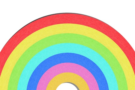 Recycle paper rainbow on white background Stock Photo - 12961261