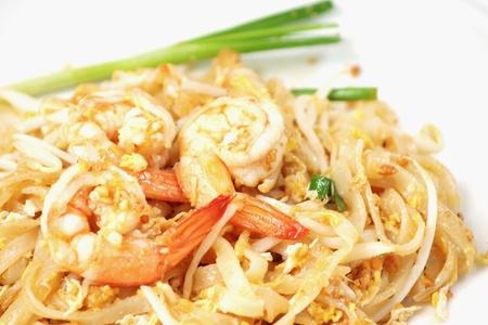 Thai food style , stir-fried rice noodles  Pad Thai  photo