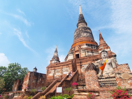 Wat Yai Chai Mongkol- Ayuttaya of Thailand Stock Photo - 13105289