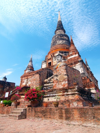 Wat Yai Chai Mongkol- Ayuttaya of Thailand Stock Photo - 13327868