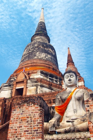 Wat Yai Chai Mongkol- Ayuttaya of Thailand Stock Photo - 13327890