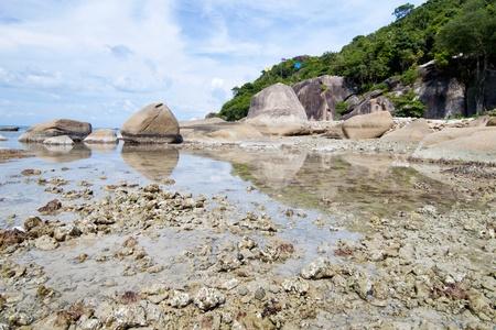 Thai island of Koh Samui. The pile of rocks on the beach Stock Photo - 13447919