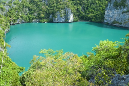 angthong: landscape bird eye view of angthong national marine park koh samui Stock Photo