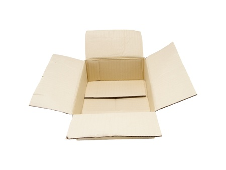empty cardboard box isolated on the white background Stock Photo - 13644456