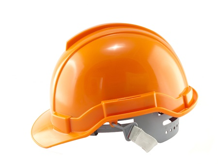 Orange Safety helmet isolated on white
