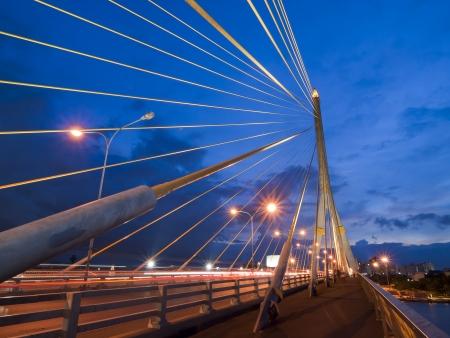 Mega sling Bridge,Rama 8, in Thailand photo