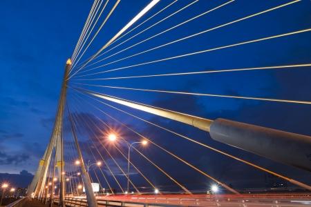 Mega sling Bridge,Rama 8, in bangkok Thailand photo
