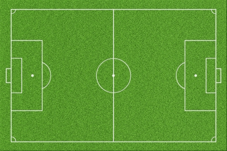 touchline: Soccer or football field  Stock Photo