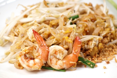 Thai food style , stir-fried rice noodles (Pad Thai) photo
