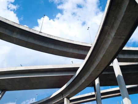 Bhumibol Bridge, The Industrial Ring Road Bridge in Bangkok, Thailand photo