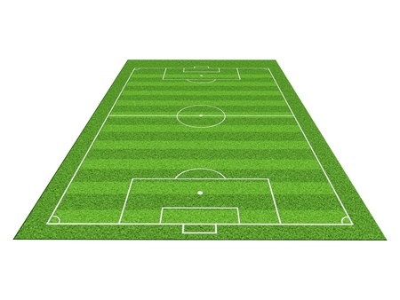 crossbars: Soccer or football field isolate on white background
