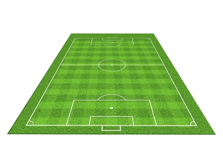 offside: Soccer or football field isolate on white background