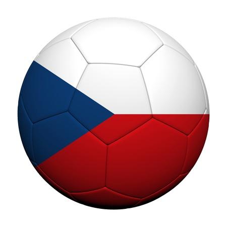 Czech Flag Pattern 3d rendering of a soccer ball Stock Photo - 13944809