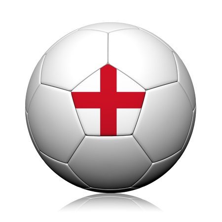 England Flag Pattern 3d rendering of a soccer ball photo