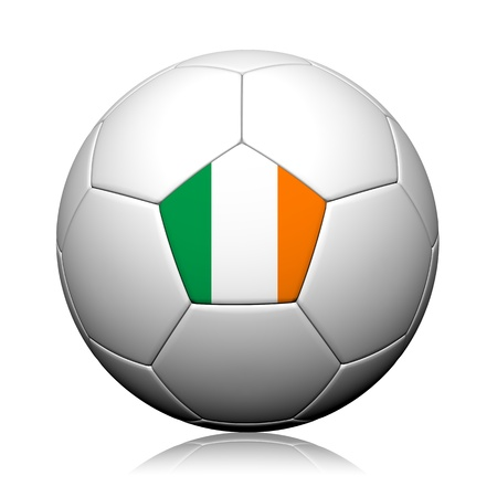 Ireland Flag Pattern 3d rendering of a soccer ball photo
