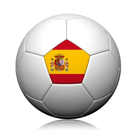 Spain Flag Pattern 3d rendering of a soccer ball Stock Photo - 14135856