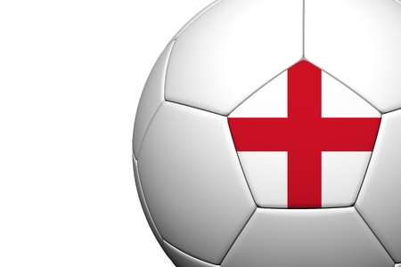 England Flag Pattern 3d rendering of a soccer ball