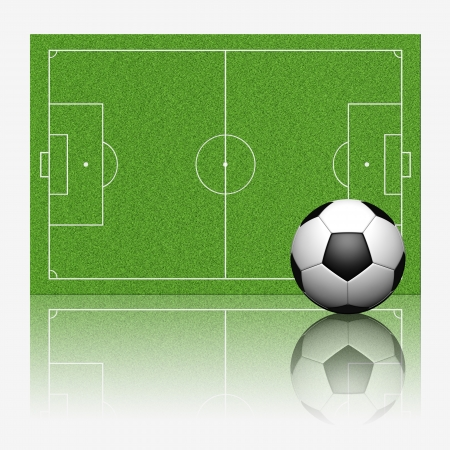 3D soccer football with reflect on white background Stock Photo - 14011736