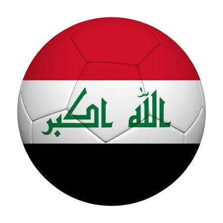 iraq flag: Iraq Flag Pattern 3d rendering of a soccer ball  Stock Photo