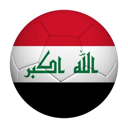iraq: Iraq Flag Pattern 3d rendering of a soccer ball  Stock Photo