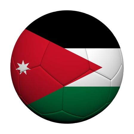 Jordan Flag Pattern 3d rendering of a soccer ball  photo