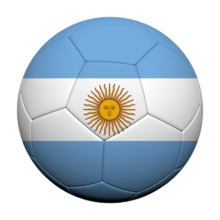 argentina: Argentina Flag Pattern 3d rendering of a soccer ball