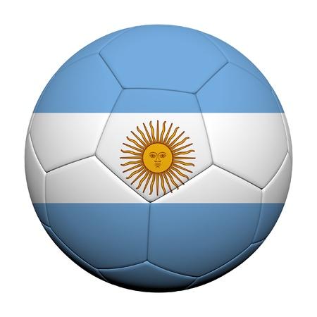 flag of argentina: Argentina modelo de la bandera 3d prestaci�n de un bal�n de f�tbol