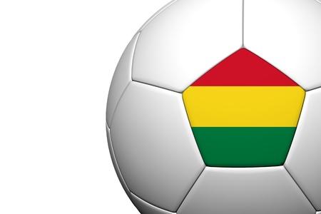 bandera de bolivia: Patr�n de la bandera de Bolivia 3d prestaci�n de un bal�n de f�tbol