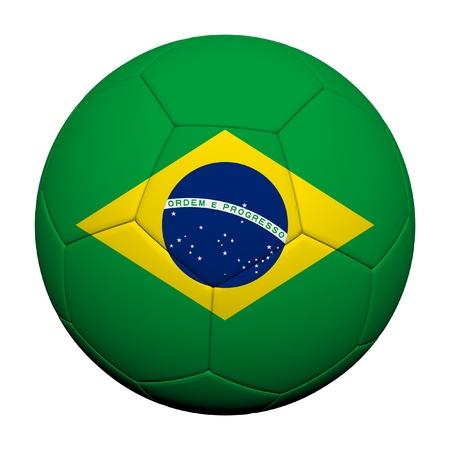 Brazil Flag Pattern 3d rendering of a soccer ball Stock Photo - 14187077