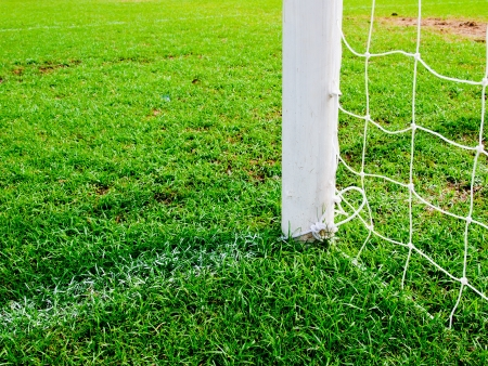soccer goal football green grass field Stock Photo - 14187268