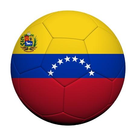 Venezuela flag: Venezuela modelo de la bandera 3d prestaci�n de un bal�n de f�tbol